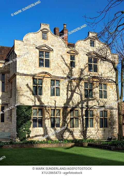 The Treasurers House from Minster Yard York Yorkshire England