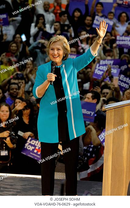 Former Secretary Hillary Clinton Campaigns for President at East Los Angeles College Cinco de Mayo, 2016