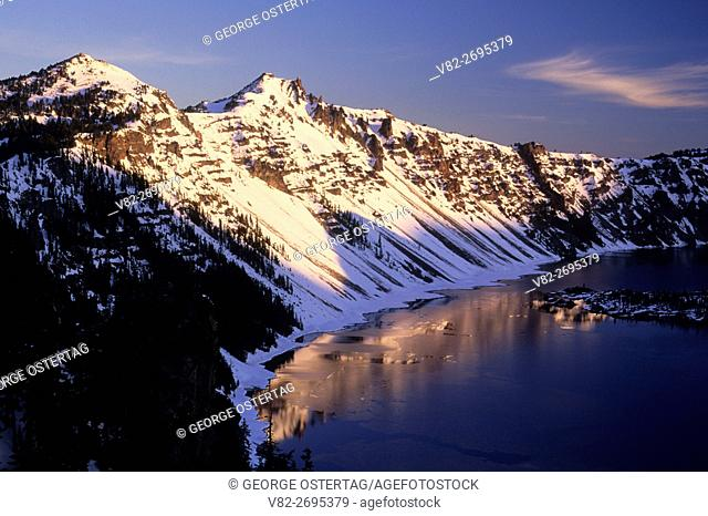 Hillman Peak & The Watchman, Crater Lake National Park, Oregon