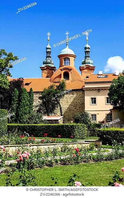 St. Vavrinec Church in Petrin Park Prague