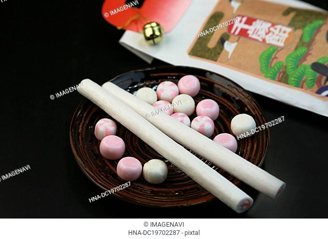 Chitose Ame (Japanese candy for children's festivals)