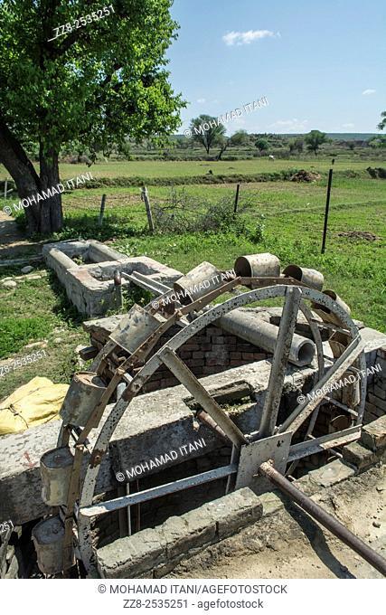 Old water wheel Jehlum Pakistan