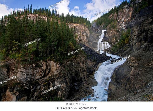 White Falls on Mt. Robson, Mt. Robson Provincial park, Thompson Okanagan region of British Columbia, Canada