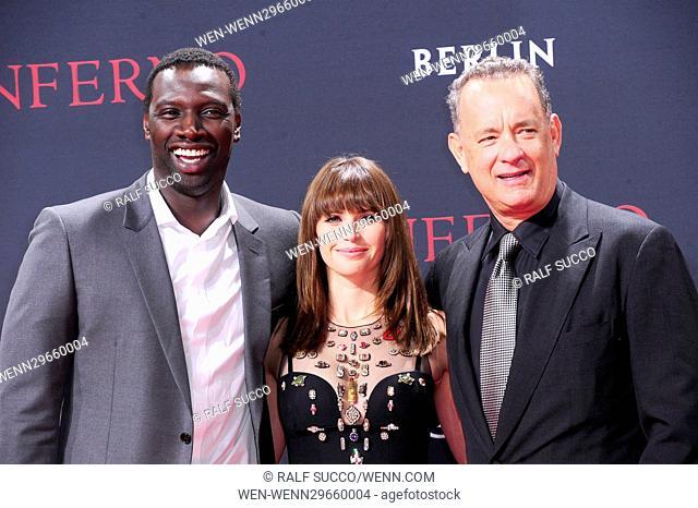 Premiere of 'Inferno' at Cinestar Sony Center at Potsdamer Platz. Featuring: Omar Sy, Felicity Jones, Tom Hanks Where: Berlin