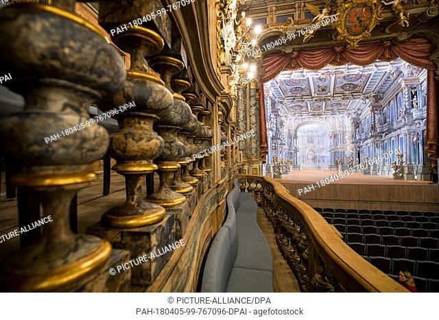 16 March 2018, Germany, Bayreuth: After six years of renovation, the Margravial Opera House re-opens its doors on 12 April 2018