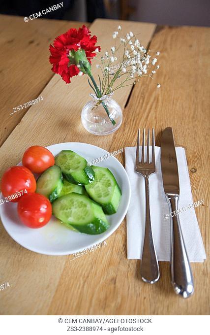 Still-life photo of a salad, Taksim, Istanbul, Marmara Province, Turkey, Europe
