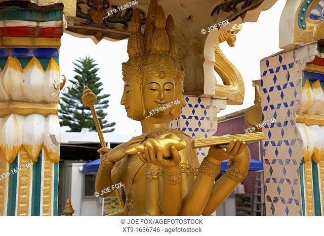 four headed buddha statue ten thousand buddhas monastery sha tin new territories hong kong hksar china asia