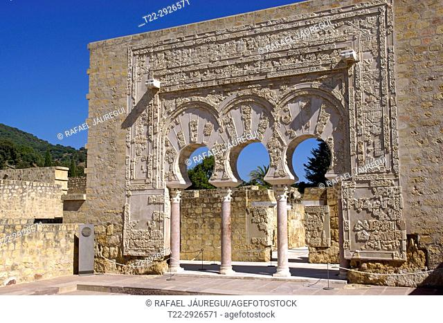 Cordoba (Spain). Prime Minister door in the city of Medina Azahara