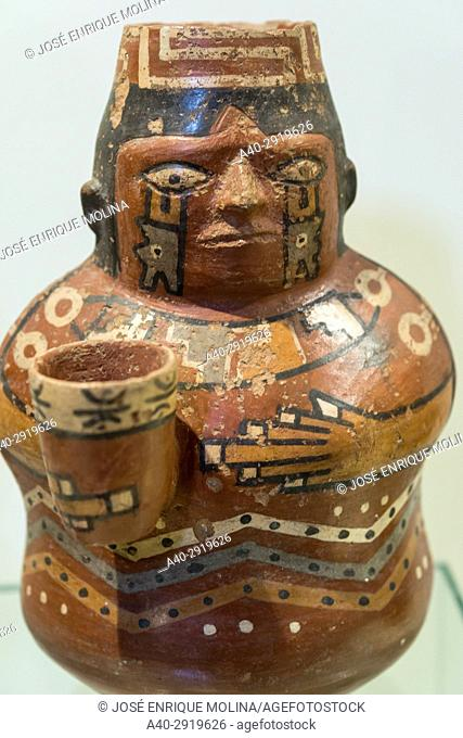 National Museum of Archeology, Anthropology and History of Peru.Lima, Peru. Wari culture (500AC-1200AC)