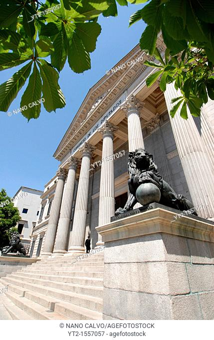 The Spanish Congress of Deputies Spanish: Congreso de los Diputados is the lower house of the Parliament of Spain Spanish: Cortes Generales  It has 350 members