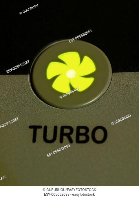Green light turbo button as background