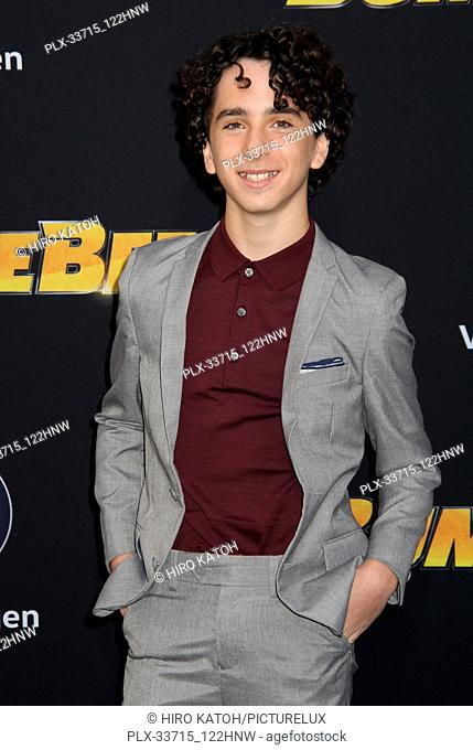 """Jason Drucker 12/09/2018 The Global Premiere of """"""""Bumblebee"""""""" held at TCL Chinese Theater in Los Angeles, CA Photo by Hiro Katoh / HNW / PictureLux"""