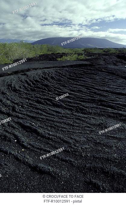 Rocks of a vulcano, galapagos