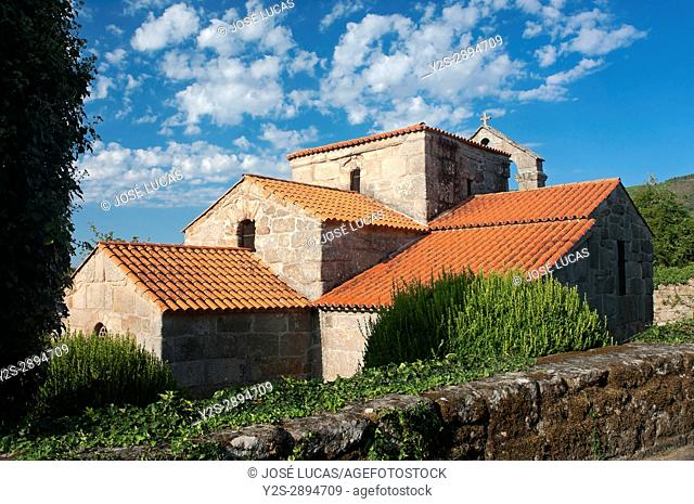 Visigothic church of Santa Comba - 7th century, Bande, Orense province, Region of Galicia, Spain, Europe