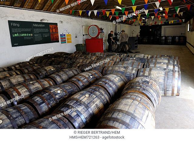 United Kingdom, Scotland, Inner Hebrides, Islay Island, Port Ellen, Laphroaig Scotch whisky distillery