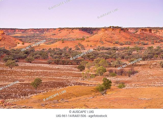 The Lilleyvale Hills from the Cawnpore Lookout on the Kennedy Developmental Road between Winton and Boulia, Central Queensland, Australia