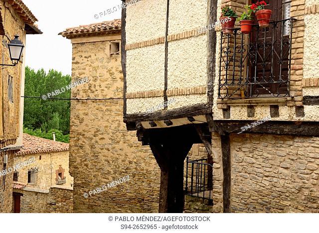 Framework house of Yanguas, Soria, Spain