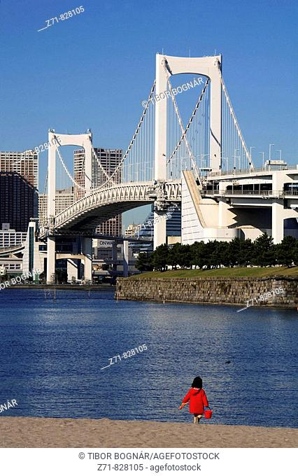 Japan, Tokyo, harbour, Rainbow Bridge