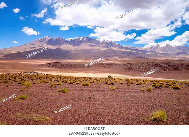 Altiplano mountains in sud Lipez reserva Eduardo Avaroa, Bolivia
