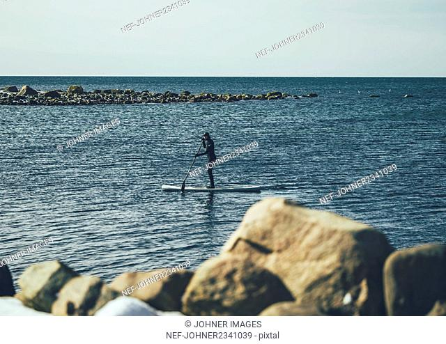 Man on paddleboard
