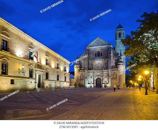 Capilla del Salvador and Palacio del Deán Ortega (parador nacional de turismo - state run hotel). Úbeda. Jaen Province. Andalusia. Spain