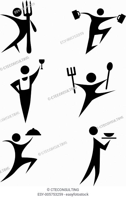 Eating Stick Figure Set
