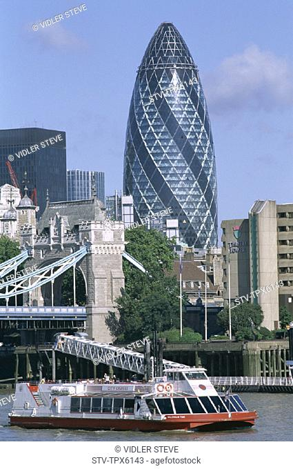 Architect, Boat, Building, England, United Kingdom, Great Britain, Foster, Gherkin, Holiday, Landmark, London, Norman, Sir, Swis