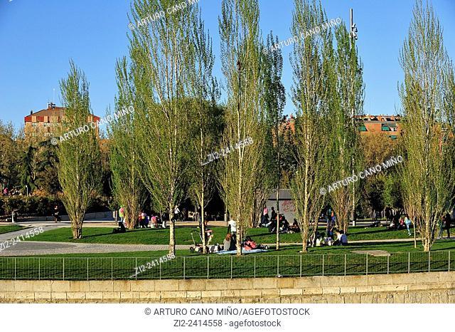Park of Madrid Rio. Madrid, Spain