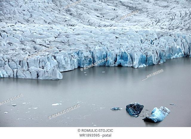 Vatnajökull glacier with coastline, Landmannalaugar, Iceland