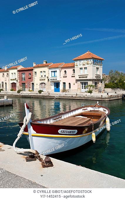 Bendor Island, Bandol, fishing boat in the port