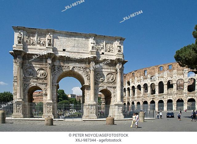 Arco Di Constantino, Arch of Constantine, Rome