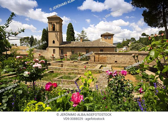 Hotel-Parador, Convent of San Francisco. Alhambra, UNESCO World Heritage Site. Granada City. Andalusia, Southern Spain Europe