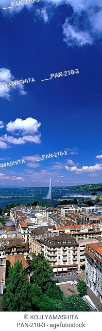 Jet D'eau, View of Geneva, Switzerland