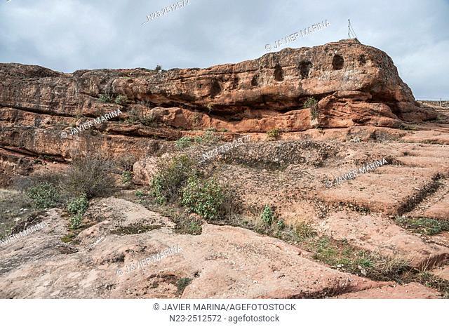 Celtiberian settlement of Tiermes, Montejo de Tiermes, Soria province, Castilla-Leon, Spain