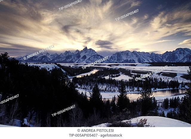 USA, Wyoming, Grand Teton National Park, Snake River View