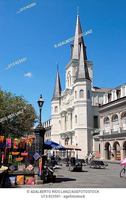 Saint Louis Cathedral at Jackson Square, French Quarter, New Orleans, Louisiana, USA