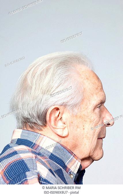 Senior man profile, studio shot