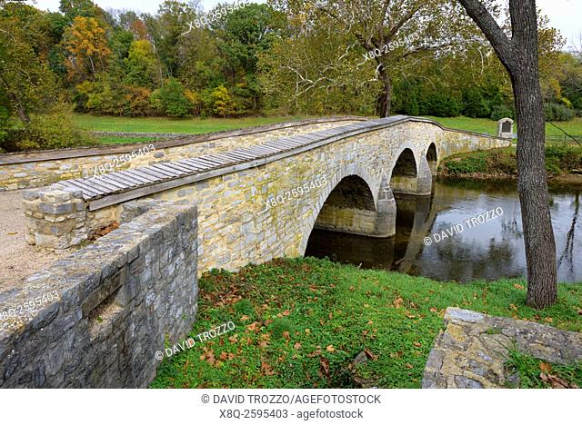 Burnside Bridge Antietam National Battlefield, Sharpsburg, Maryland, USA