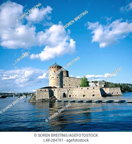Olavinlinna Castle (aka Olofsborg Castle), founded in 1475. World Heritage Site. Savonlinna. Finland