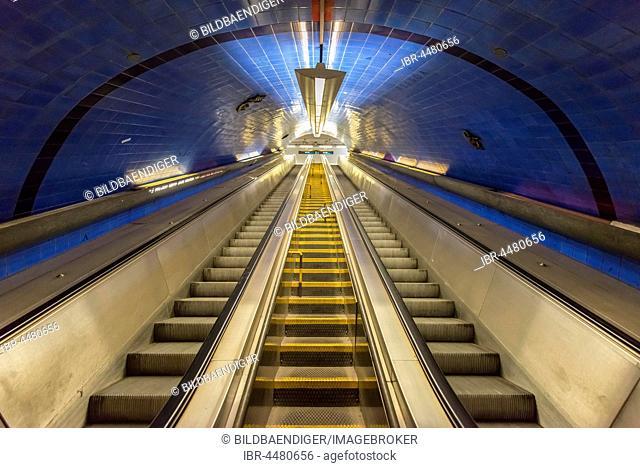 Escalator, Metro Station Parque, Lisbon, Portugal