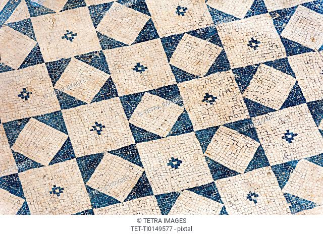 Turkey, Ephesus, Private house floor mosaic pattern