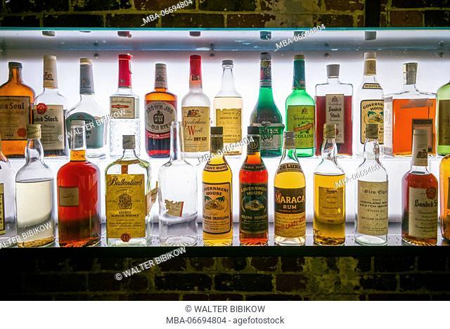 Canada, Ontario, Toronto, Distillery District, whisky bottles
