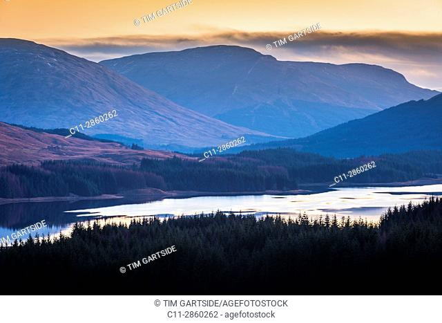 Loch Tulla, river orchy,glenn orchy,Argyll and Bute, Scotland, uk