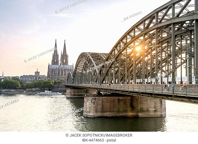 Cathedral and steel bridge, Koln, Germany