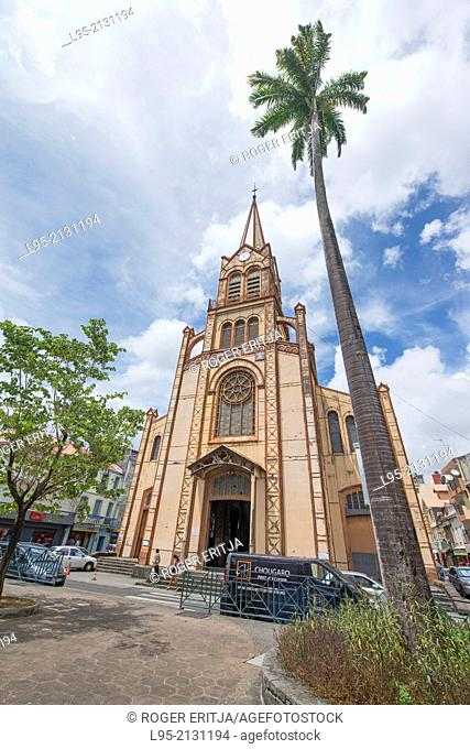 Saint Louis cathedral of Fort de France, Martinique, French West Indies