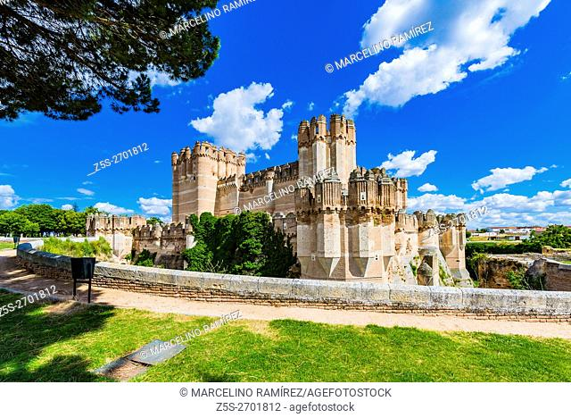 Castillo de Coca, Coca Castle, is a fortification constructed in the 15th century. Coca, Segovia, Castilla y León, Spain, Europe