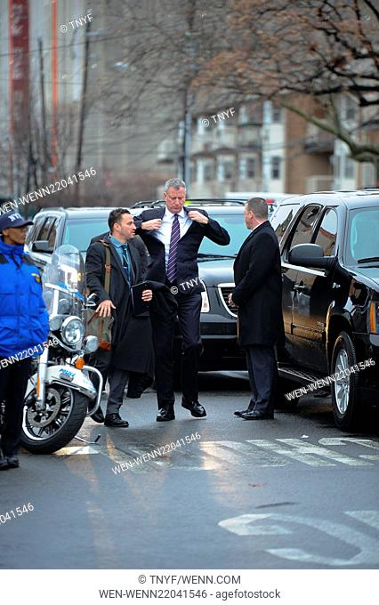 Funeral of NYPD officer Wenjin Liu in Manhattan Featuring: Bill de Blasio Where: New York City, New York, United States When: 04 Jan 2015 Credit: TNYF/WENN
