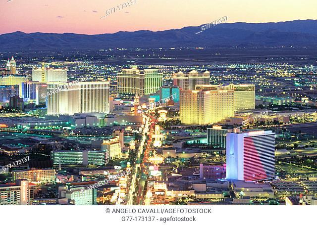 The Strip. Las Vegas. Nevada. USA