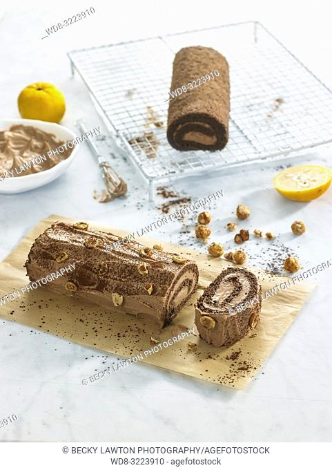 yuzu swiss roll en vertical / yuzu swiss roll