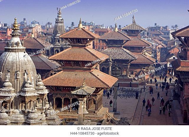 Nepal, Patan city, Kathmandu Valley, Lalitpur, Durbar Square, UNESCO, World heritage site, Asia, travel, January 2008